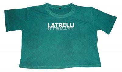Latrelli bauchfreies kurzes Shirt zum Rückwärtslaufen und -lesen
